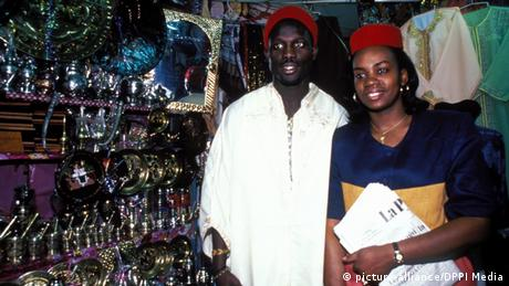 George Weah with his wife Clar in 2009 (picture-alliance/DPPI Media)