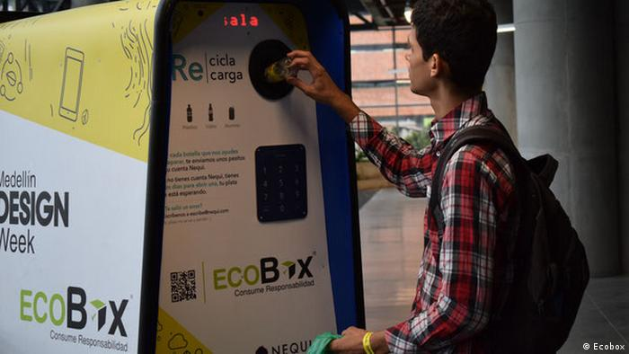 Kolumbien, Recycling-Maschine (Ecobox)