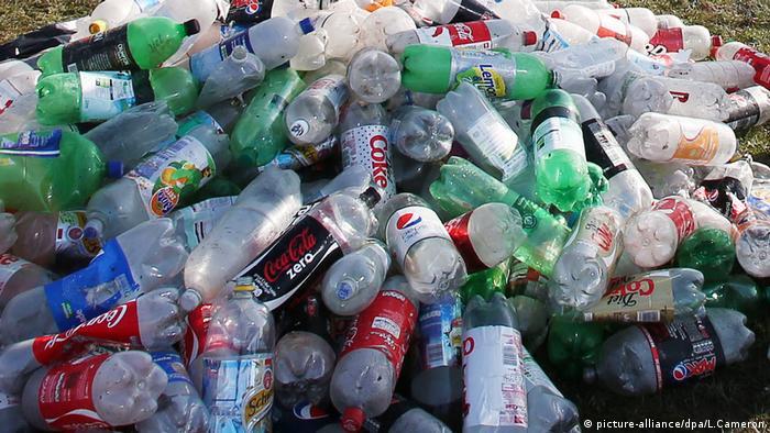 Plastikmüll in Großbritannien (picture-alliance/dpa/L.Cameron)