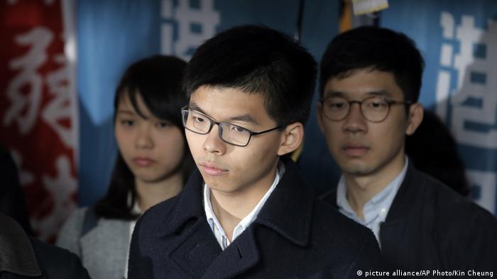 Joshua Wong at the High Court in Hong Kong