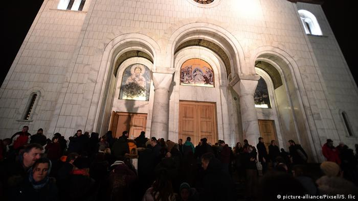 Oliver Ivanovic mourners in Belgrade