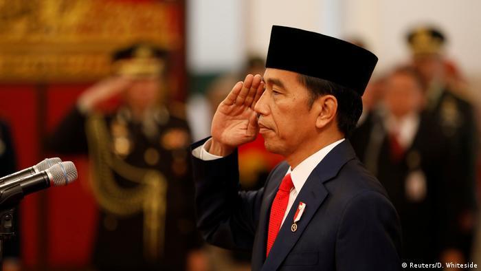 Indonesien Vereidigung Kabinett von Präsident Joko Widodo