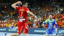 Handball Europameisterschaft in Kroatien Mazedonien vs Slowenien