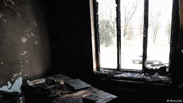 Burned Ingushetia office of Memorial (Memorial)