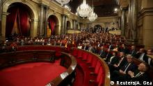 Deputies attend the start of the first session of Catalan Parliament after the regional elections in Barcelona, Spain (Reuters/A. Gea)