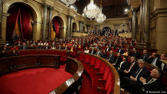The Catalan parliament held its first session in January after the regional elections