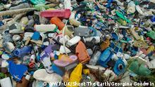 Kenia Plastik-Müll am Strand von Rubu island