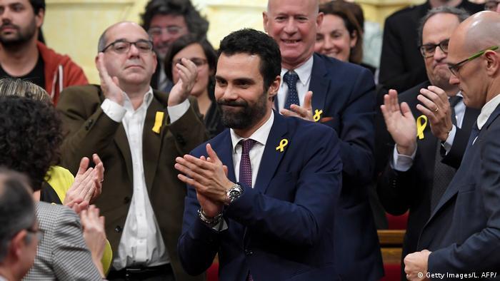 Spanien Roger Torrent Wahl zum katalanischen Parlamentspräsidenten