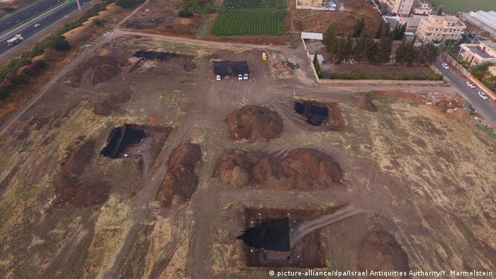 Ausgrabungen prähistorische Stätte in Jaljulia, Israel (picture-alliance/dpa/Israel Antiquities Authority/Y. Marmelstein)