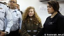 Westjordanland Militärgericht, Ahed Tamimi bei Ramallah