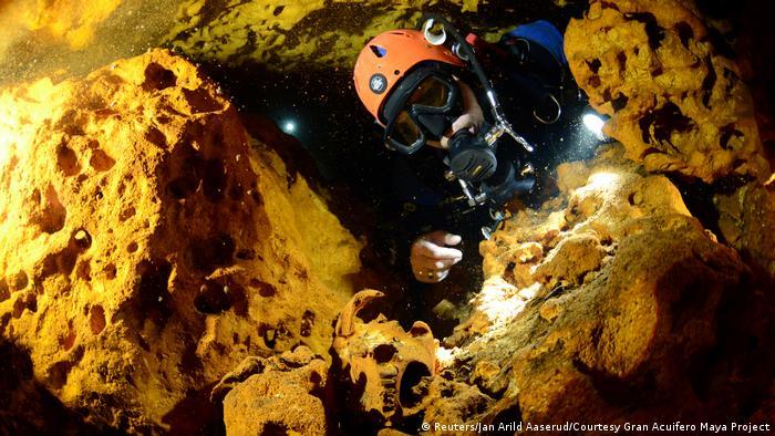 Mexiko Entdeckung Unterwasserhöhle bei Tulum (Reuters/Jan Arild Aaserud/Courtesy Gran Acuifero Maya Project)