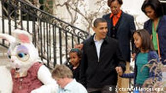 Familie Obama an Ostern