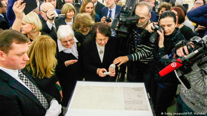 Lithuanian copy of independence declaration