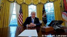 USA - Präsident Trump im Interview mit Reuters im Weißen Haus