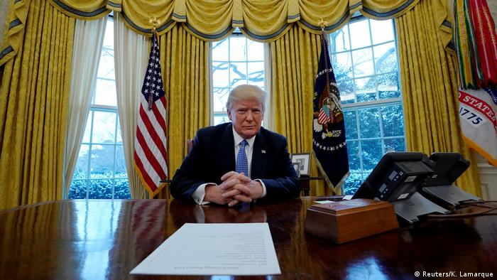 USA - Präsident Trump im Interview mit Reuters im Weißen Haus (Reuters/K. Lamarque)