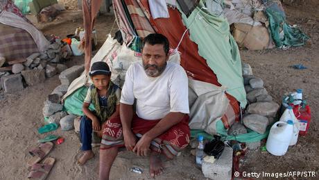 Jemen Flüchtlingscamp Konflikt UN-Hilfe (Getty Images/AFP/STR)
