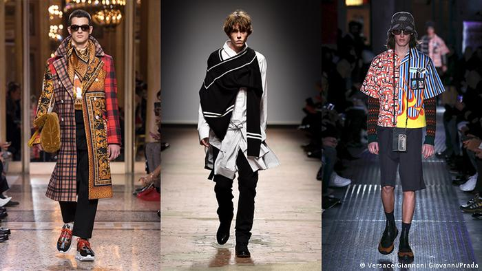 Fashion Week 2018 Mailand London Florenz (Versace/Giannoni Giovanni/Prada)