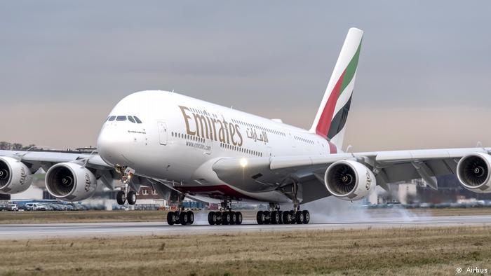 Airbus A380 компании Emirates