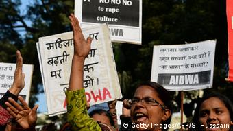 Indien Protest gegen Vergewaltigungsfälle in Haryana