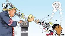 Trump-Karikatur aus Afrika