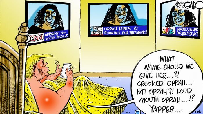 Trump-Karikatur aus Afrika (Gado)