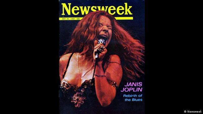 Newsweek Cover von 1969 mit der singenden Janis Joplin.