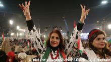 Pakistan Opposition protestiert gegen regierung in Lahore