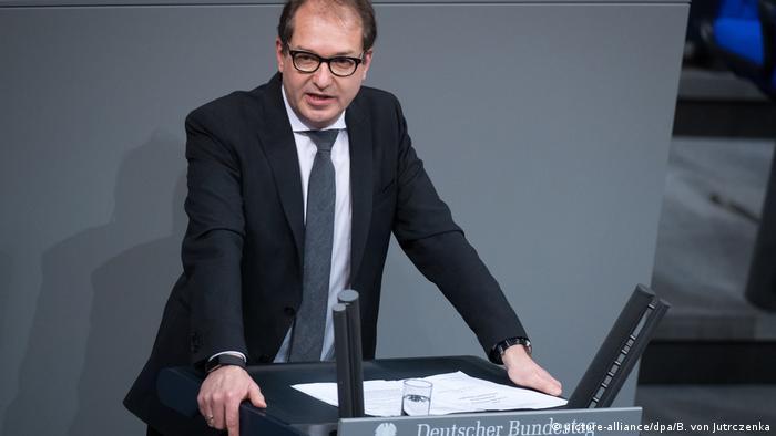 Alexander Dobrindt speaks in the Bundestag