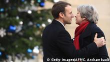 Großbritannien Emmanuel Macron, Präsident Frankreich & Theresa May