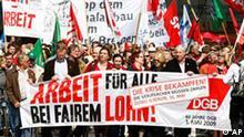 Maikundgebung in Bremen Demonstranten