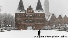 BDT Schneefall in Lübeck