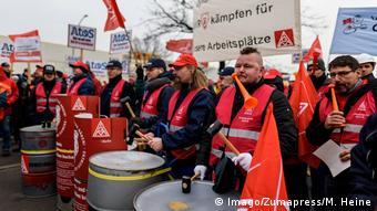 Στιγμιότυπο από παλαιότερη διαμαρτυρία εργαζομένων της Siemens στο Βερολίνο