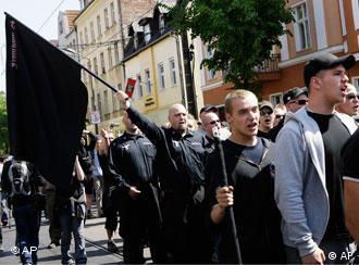 Демонстрация ультраправых в Берлине