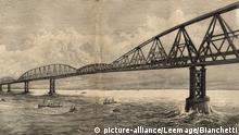 Die Idee einer kühnen Konstruktion über die Straße von Dover ist alt (hier eine Zeichnung von 1890) ...