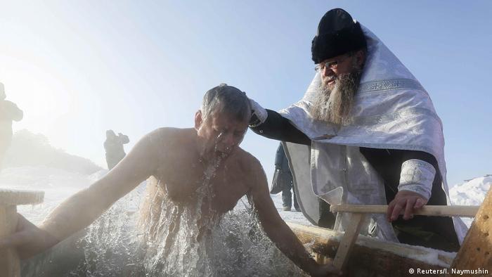 eisbaden in russland