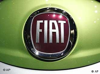 Fiat logo on a green background
