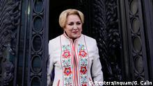 Romania's prime minister designate Viorica Dancila talks to media representatives in Bucharest, Romania, January 16, 2018. Picture taken January 16, 2018. Inquam Photos/George Calin via REUTERS ATTENTION EDITORS - THIS IMAGE WAS PROVIDED BY A THIRD PARTY. ROMANIA OUT. NO COMMERCIAL OR EDITORIAL SALES IN ROMANIA.
