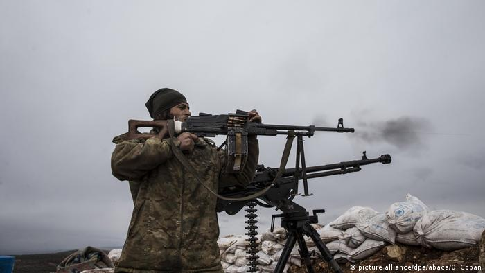 Turkey-backed Free Syrian Forces have joined in the fight to oust Kurdish forces from Afrin