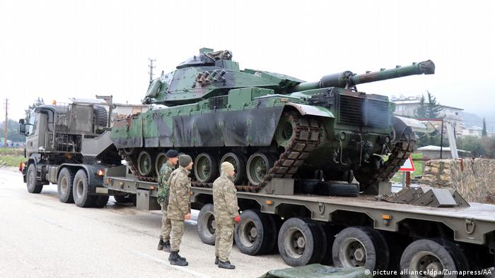 In the run-up to the offensive, Turkey transported heavy artillery and tanks near the Syrian border