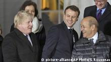 Boris Johnson and Emmanuel Macron (picture-alliance/AP Photo/S. Rousseau)
