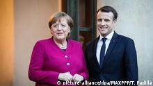 Frankreich Emmanuel Macron empfängt Bundeskanzlerin Angela Merkel in Paris