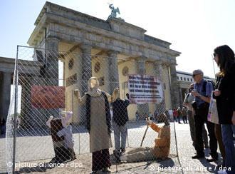 Demonstrators celebrate World Press Freedom Day in Berlin