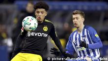 1. Bundesliga 19. Spieltag | Hertha BSC - Borussia Dortmund | Jadon Sancho (picture-alliance/AP Photo/M. Sohn)