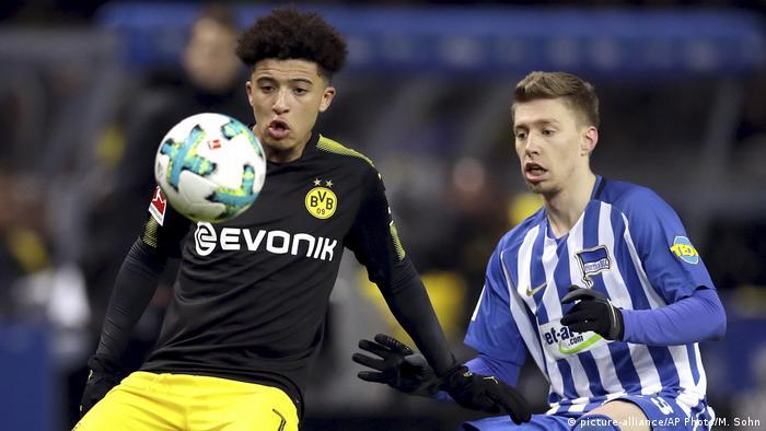 1. Bundesliga 19. Spieltag | Hertha BSC - Borussia Dortmund | Jadon Sancho