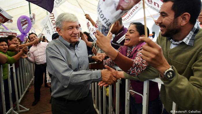 Mexiko Andres Manuel Lopez Obrador, Präsidentschaftskandidat (Reuters/Y. Ceballos)