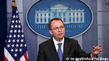 USA WASHINGTON Trumps Haushaltschef Mick Mulvaney (Imago/Xinhua/Yin Bogu)