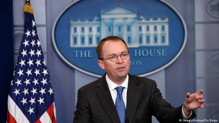 USA WASHINGTON Trumps Haushaltschef Mick Mulvaney