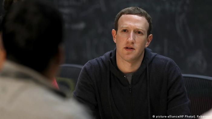 Mark Zuckerberg meeting with a group of entrepreneurs