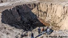 Januar 2018 ++ Wegen Trockenheit sind unterirdische Wasseradern in der Hamedan-Provinz ausgetrocknet, die Erde gibt nach und entstehen Risse.