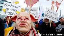 Berlin - Demonstrations for more ethical and environmentally-friendly agro-sector. (Reuters/H. Hanschke)